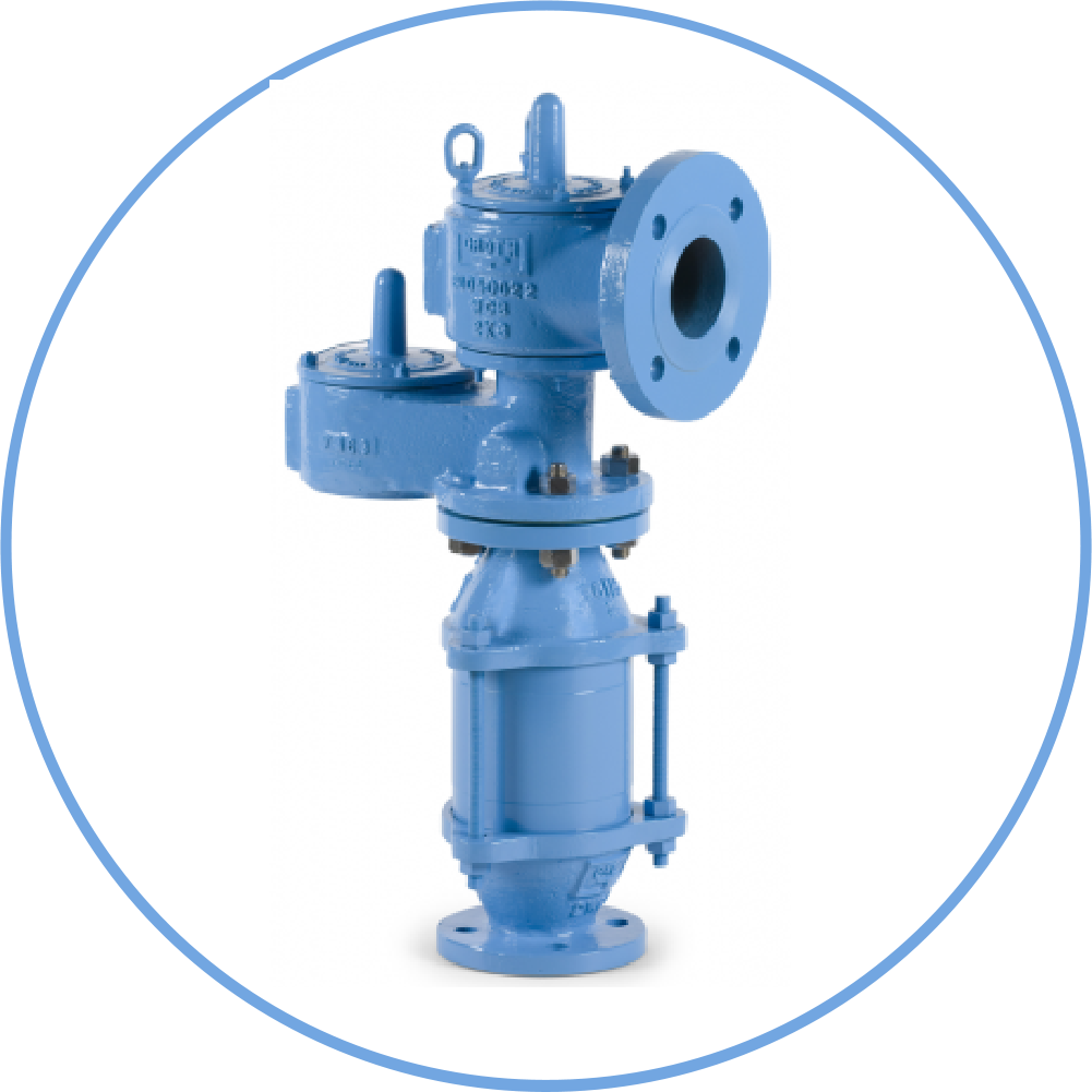 Pressure Vacuum Relief Valves with Flame Arrester